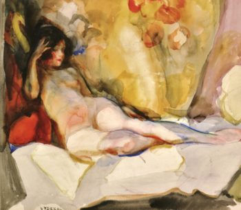 Nude on Couch | Edouard Vysekal | oil painting