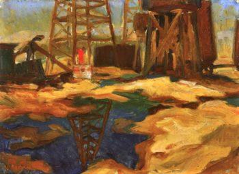 Oil Pool No 1 | Edouard Vysekal | oil painting