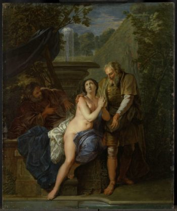 Susanna and the Elders. 1690 - 1710 | Nicolas Bertin | oil painting