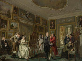 The Art Gallery of Jan Jansz Gildemeester. 1794 - 1795   Adriaan de Lelie   oil painting
