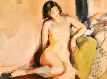 Seated Nude | Edouard Vysekal | oil painting