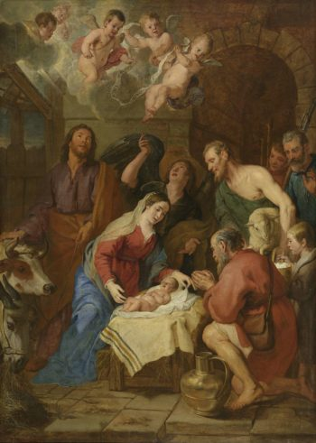 The Adoration of the Shepherds. 1630 - 1669 | Gaspar de Crayer | oil painting