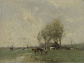 Meadow with cows. 1880 - 1910 | Willem Maris | oil painting