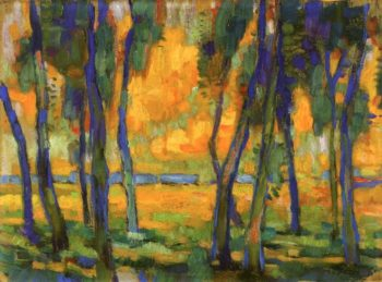 Trees in Landscape | Edouard Vysekal | oil painting