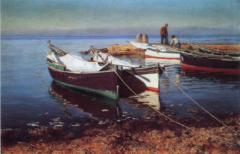 Fishing Boats | Elin Kleopatra Danielson Gambogi | oil painting