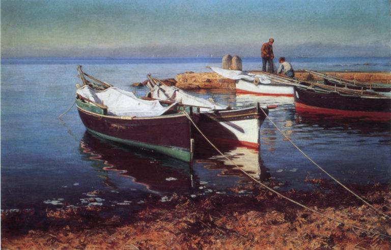 Fishing Boats | Elin Kleopatra Danielson Gambogi | oil painting