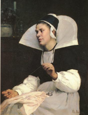 Girl from Brittany   Elin Kleopatra Danielson Gambogi   oil painting