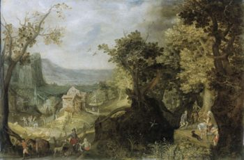 Wooded landscape. 1608 | Anton Mirou | oil painting