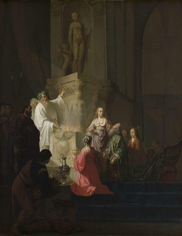 The idolatry of King Solomon. 1630 - 1648 | Willem de Poorter | oil painting
