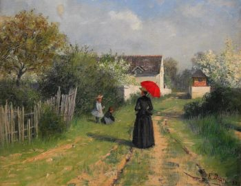 Going to church | Elin Kleopatra Danielson Gambogi | oil painting