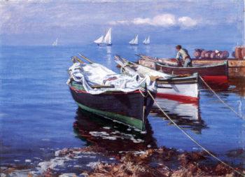 Italian Boats | Elin Kleopatra Danielson Gambogi | oil painting