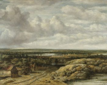 Distant View with Cottages along a Road. 1655 | Philips Koninck | oil painting