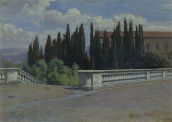 Landscape in Italy Florence | Elin Kleopatra Danielson Gambogi | oil painting