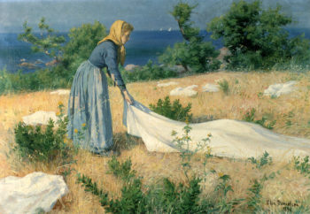 Laundry Drying | Elin Kleopatra Danielson Gambogi | oil painting