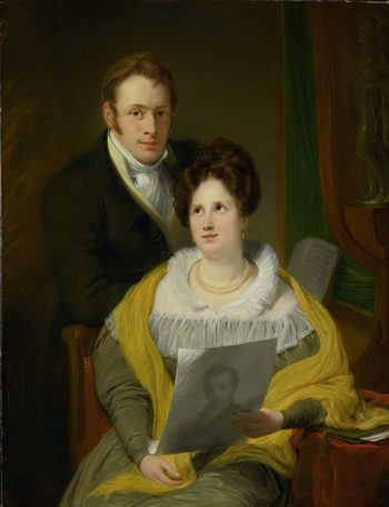 Portrait of a lady and a gentleman. 1829 | Jan Willem Pieneman | oil painting