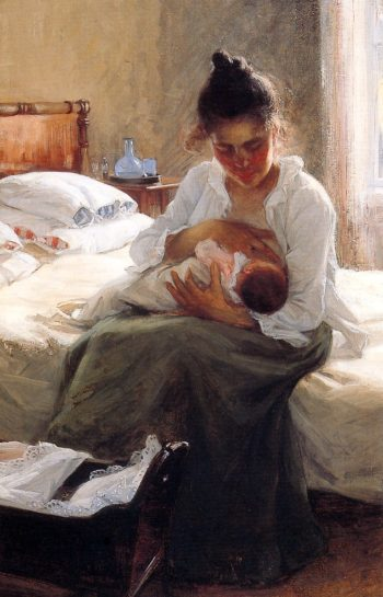 Motherhood | Elin Kleopatra Danielson Gambogi | oil painting