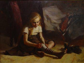 Poor Girl | Elin Kleopatra Danielson Gambogi | oil painting