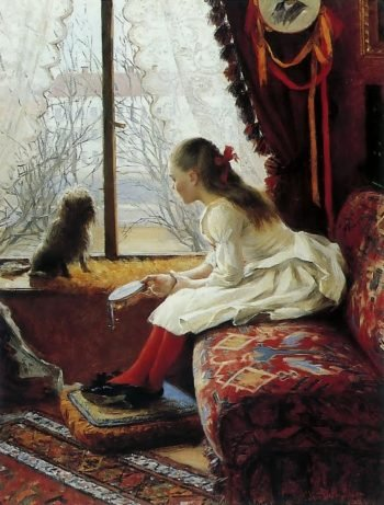 Portrait Of Walborg Jakobsson | Elin Kleopatra Danielson Gambogi | oil painting