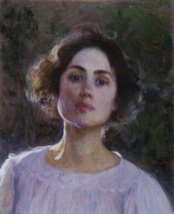 Self portrait 4 | Elin Kleopatra Danielson Gambogi | oil painting