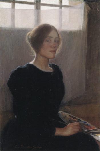Self portrait | Elin Kleopatra Danielson Gambogi | oil painting