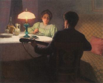 Storytime | Elin Kleopatra Danielson Gambogi | oil painting