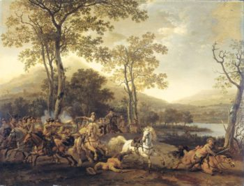 Rider Battle. 1660 - 1722 | Abraham van Calraet | oil painting
