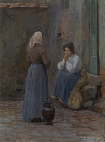 Two Women | Elin Kleopatra Danielson Gambogi | oil painting