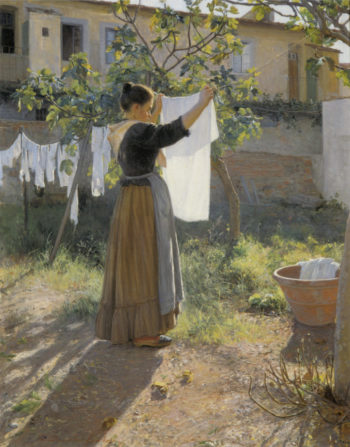 Washing Day | Elin Kleopatra Danielson Gambogi | oil painting