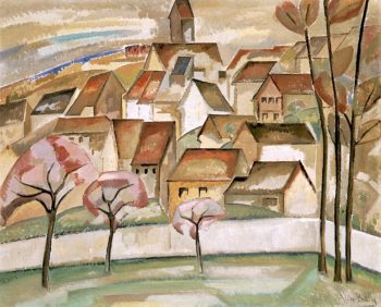 Tiered Village | Alice Bailly | oil painting