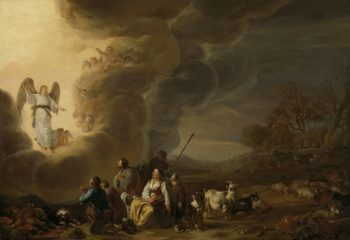 The proclamation to the shepherds. 1630 - 1650 | Cornelis Saftleven | oil painting