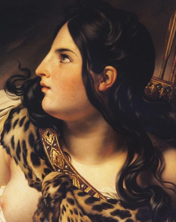 Amazon Woman | Anne Louis Girodet de Roussy Trioson | oil painting