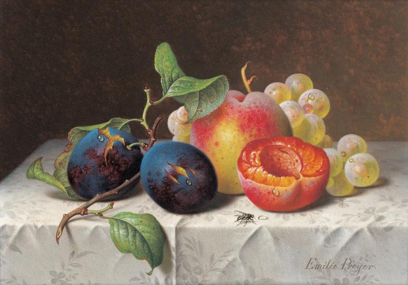 Still Life of Fruit   Emilie Preyer   oil painting