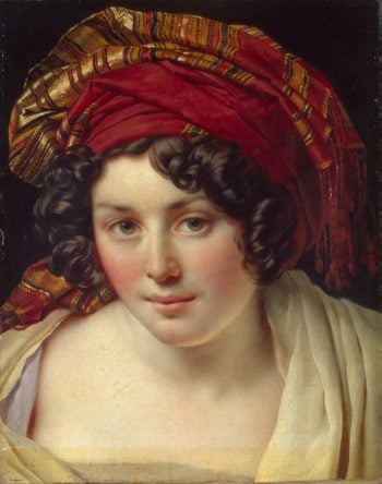 Head of a Woman in a Turban | Anne Louis Girodet de Roussy Trioson | oil painting