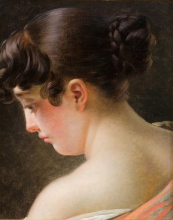 Head of a Young Girl | Anne Louis Girodet de Roussy Trioson | oil painting