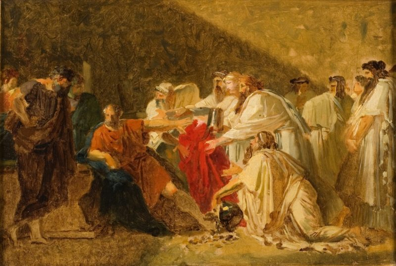 Hyppocrates Refusing the Presents of Artaxerces (study) | Anne Louis Girodet de Roussy Trioson | oil painting
