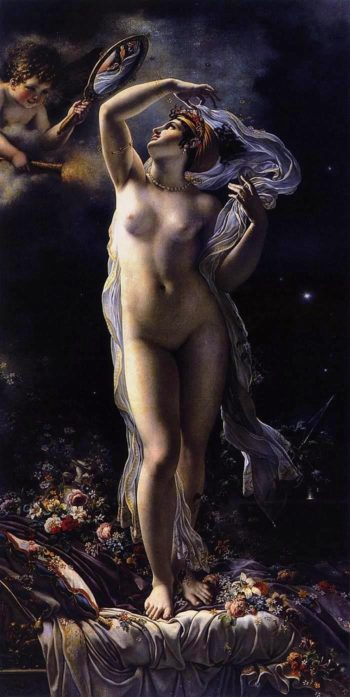 Mademoiselle Lange as Danae | Anne Louis Girodet de Roussy Trioson | oil painting