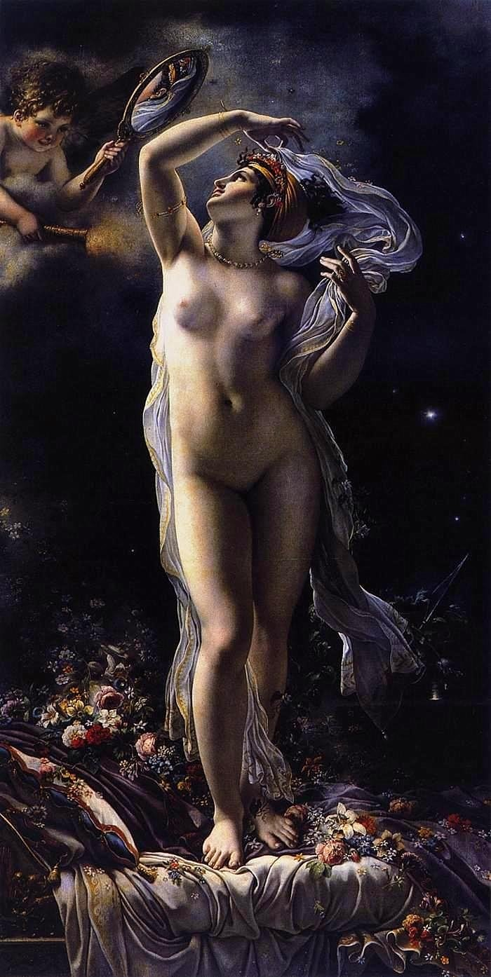 Mademoiselle Lange as Danae   Anne Louis Girodet de Roussy Trioson   oil painting