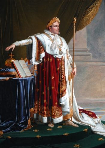 Napoleon I in Coronation Robes | Anne Louis Girodet de Roussy Trioson | oil painting