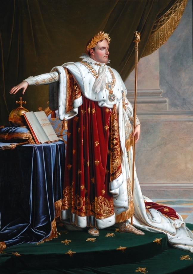 Napoleon I in Coronation Robes | Anne Louis Girodet de Roussy Trioson | oil painting