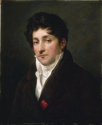 Portrait of Francois Ribes | Anne Louis Girodet de Roussy Trioson | oil painting