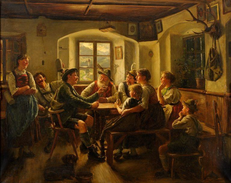 Hunters   Emil Rau   oil painting