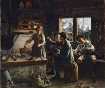 Lunch in the Alps | Emil Rau | oil painting