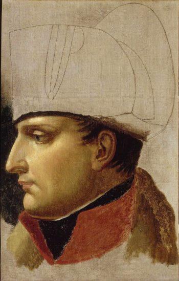 Portrait of Napoleon Ier (study) | Anne Louis Girodet de Roussy Trioson | oil painting