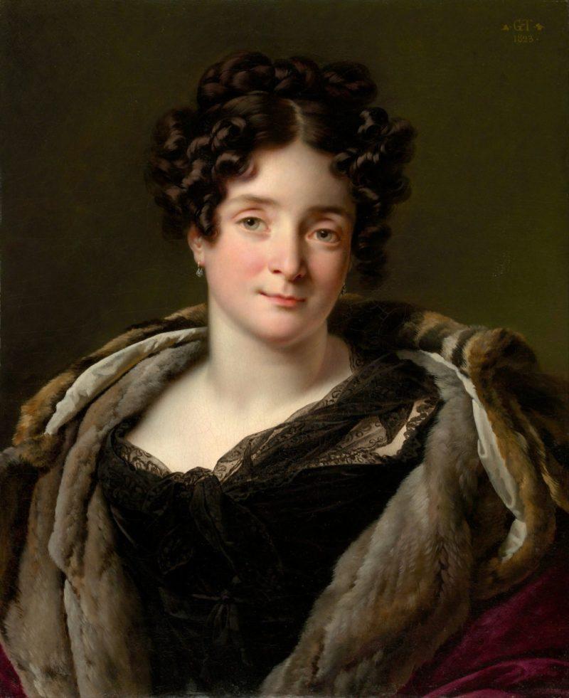 Portrait of Odette Desiree Therese Godefroy de Suresnes   Anne Louis Girodet de Roussy Trioson   oil painting