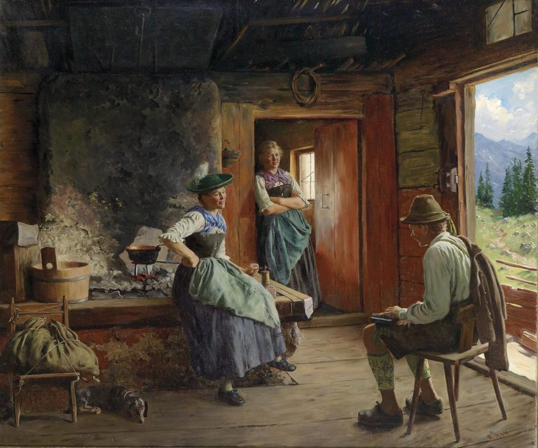 Visit to the Pasture | Emil Rau | oil painting