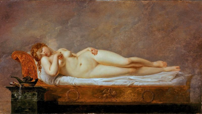 Psyche Asleep   Anne Louis Girodet de Roussy Trioson   oil painting