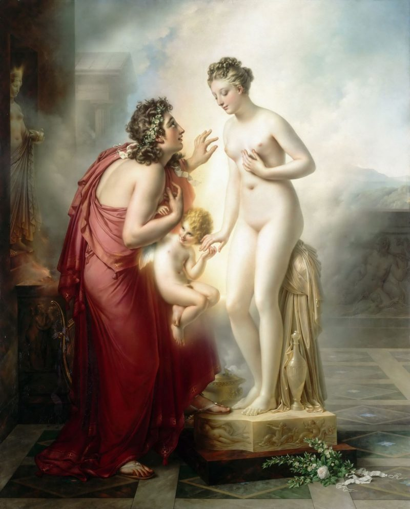 Pygmalion and Galatea | Anne Louis Girodet de Roussy Trioson | oil painting