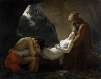 The Entombment of Atala | Anne Louis Girodet de Roussy Trioson | oil painting