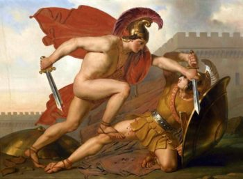 The Fight | Anne Louis Girodet de Roussy Trioson | oil painting