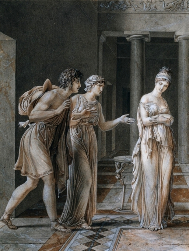 The Meeting of Orestes and Hermione | Anne Louis Girodet de Roussy Trioson | oil painting